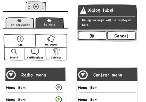 iphone sketch stencil ui kit wireframing templates