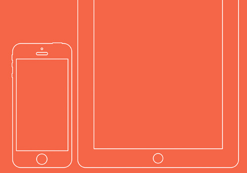 freebie psd wire iphone ipad devices tablets