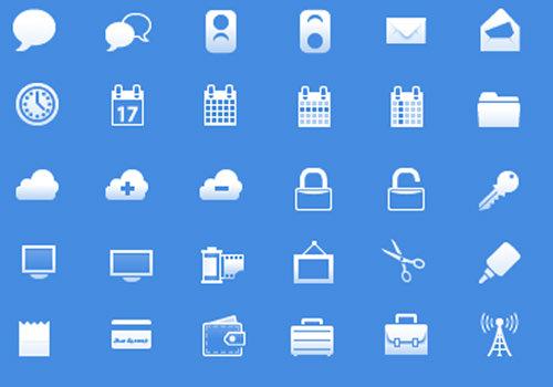 free iphone app toolbar icons glyphs mobile uitabbar