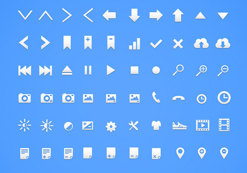 freebie vector icons set gallery ui iphone