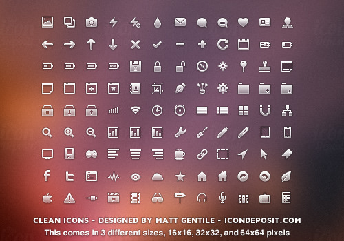 glyph icons set freebies transparent