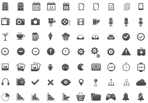 freebie glyphs icons mobile 350set pngs
