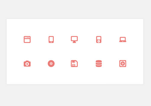 device storage mini icons set freebie