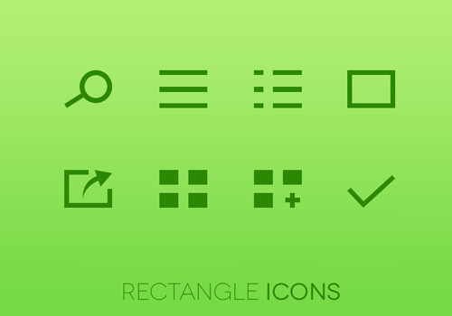 dribbble green freebies icons set download