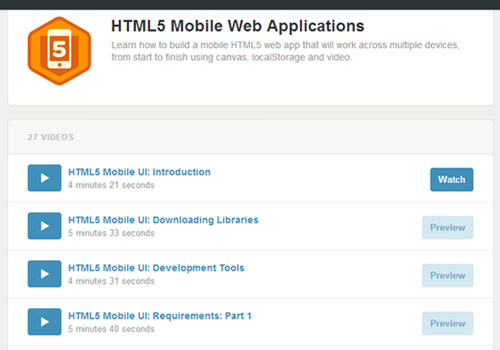 treehouse videos learning online mobile webapp development