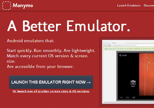 manymo mobile webapp website browser emulator