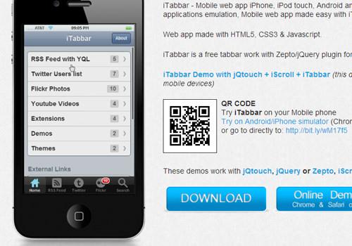 itabbar ui interface design open source uitabbar