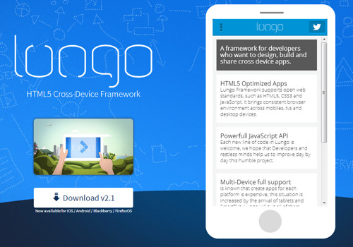 html5 mobile framework open source lungo developments