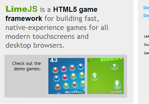 lime.js open source mobile html5 gaming framework