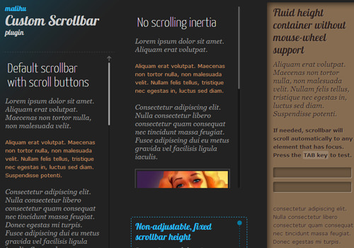 jquery plugin custom content scrollbar open source webapps