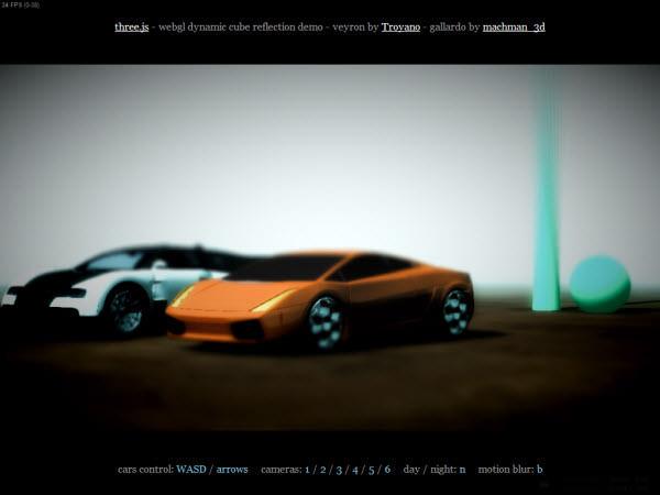 webgl cars