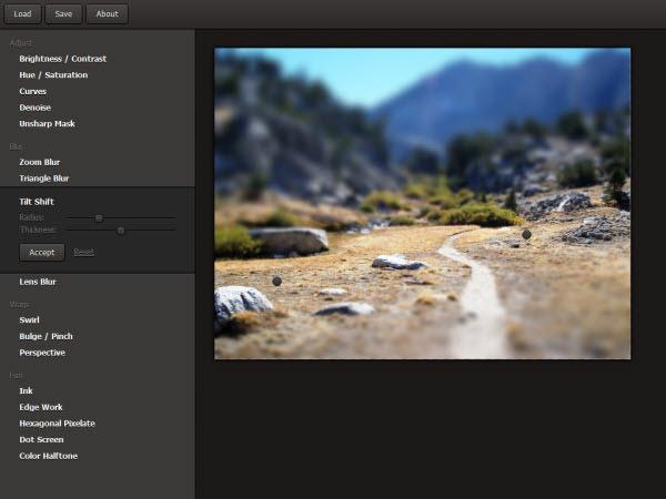 webgl image filter
