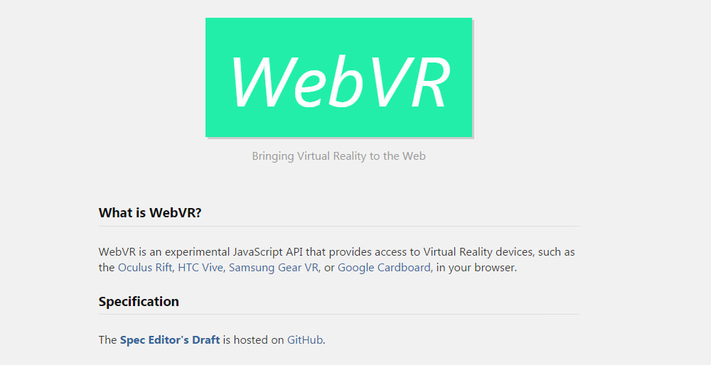 Bring VR Experience in Your Browser with WebVR