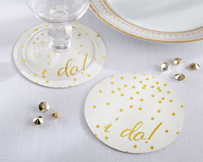 'I do!' Paper Coasters