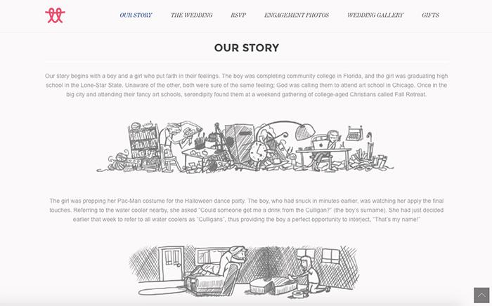 wedding invitation website design