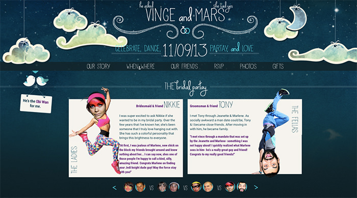 wedding invitation website design