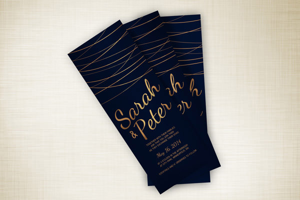 5 wedding invitation trends for 2015 hongkiat 2 metallics stopboris Image collections