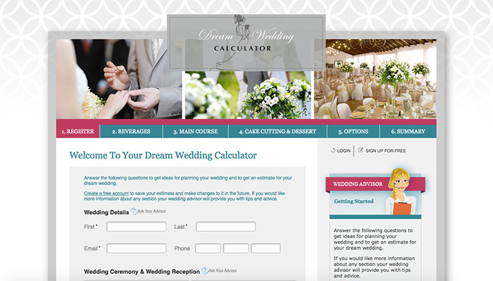 Dream Wedding Calculator Get A Rough Estimate