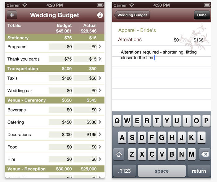19 useful apps to plan your own wedding hongkiat wedding budget calculator budget planning junglespirit Image collections
