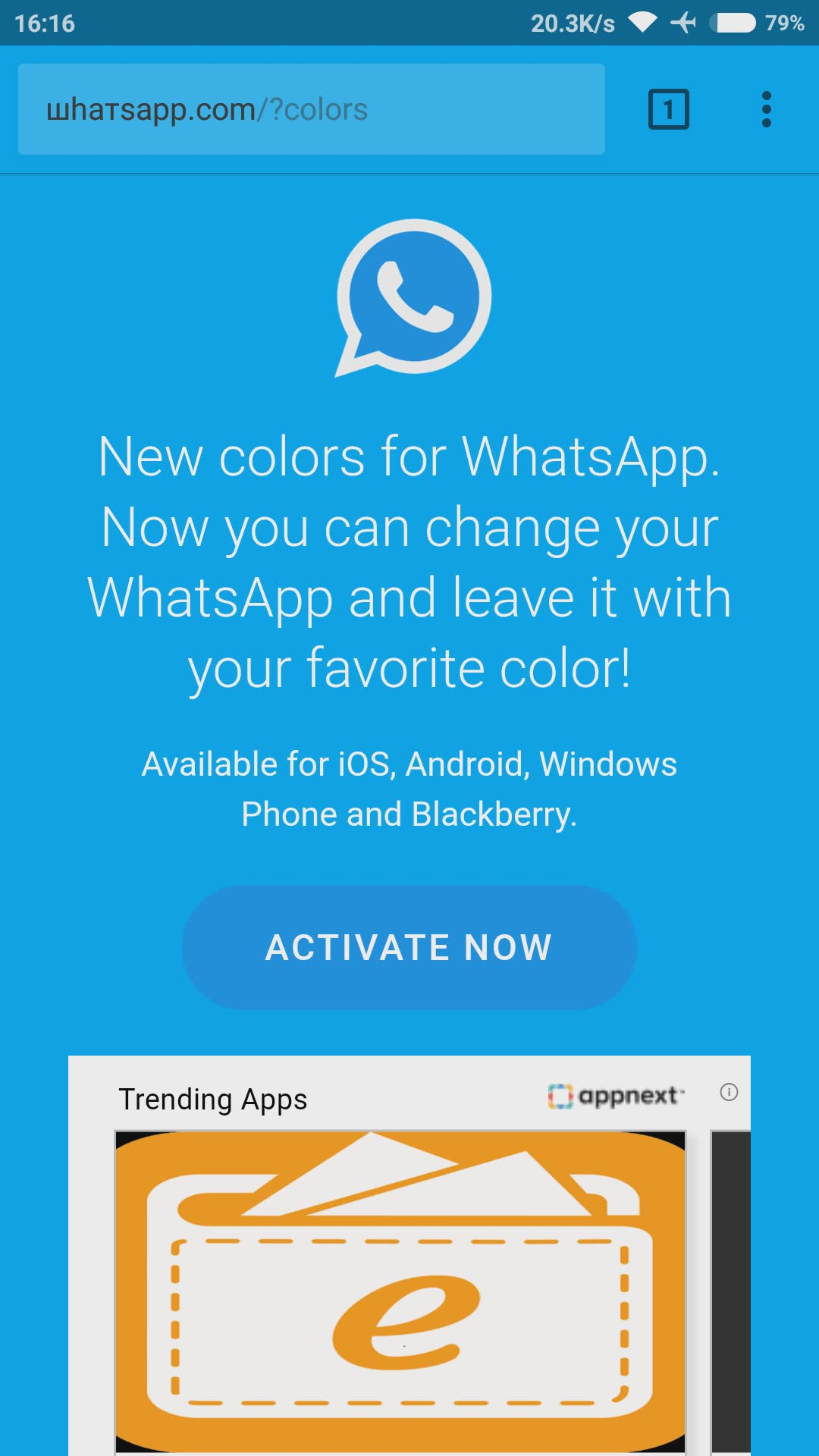 change whatsapp colour