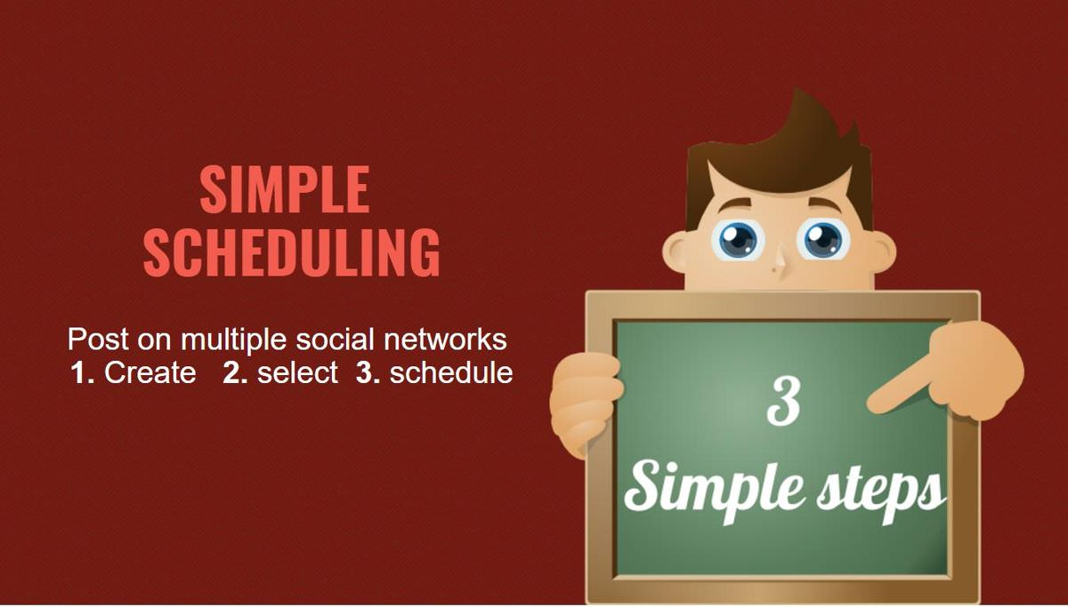 Slack Social allows scheduling in 3 steps