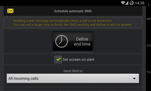Schedule Automatic SMS