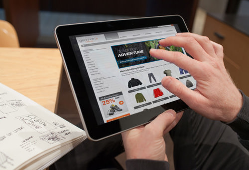 Shopping Using Tablet