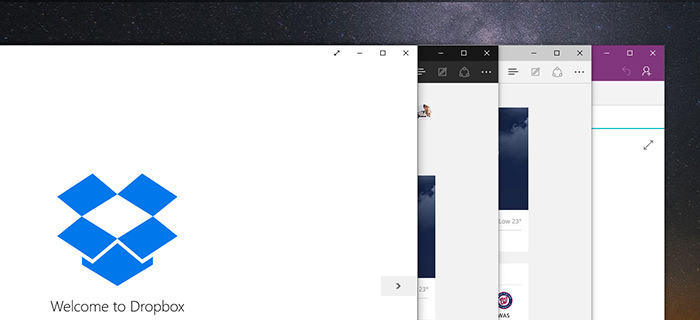Variation of window in Windows 10
