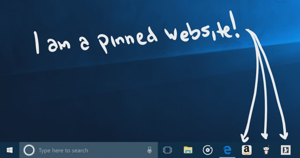 pin website to taskbar