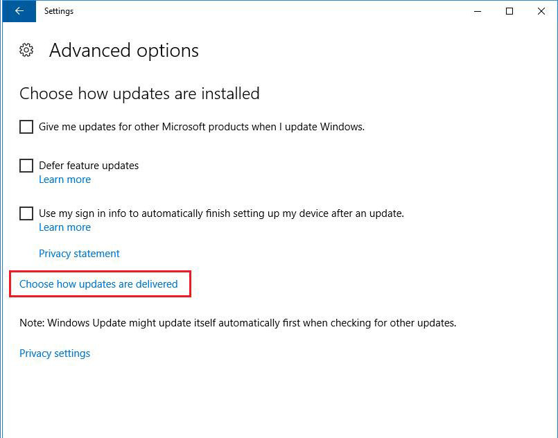 Choose how updates are installed