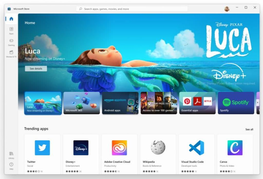 The all-new Microsoft Store in Windows 11