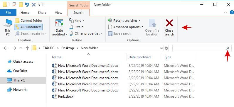 Customize the Search Bar in the File Explorer