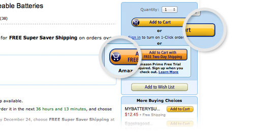 amazon orange button