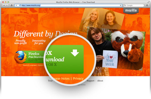 firefox green download button