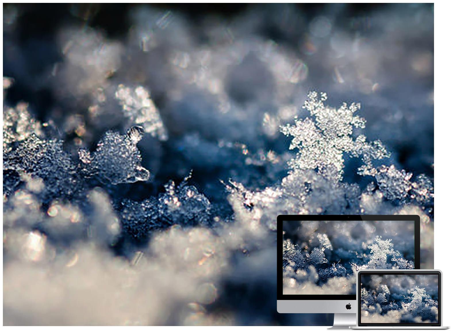 Snow Crystal Landscape - Bộ ảnh nền mùa Đông đẹp dành cho máy tính