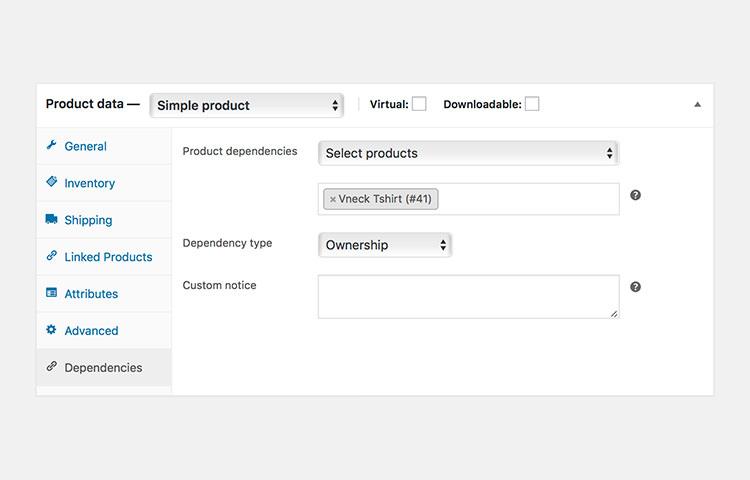 WooCommerce Product Dependencies