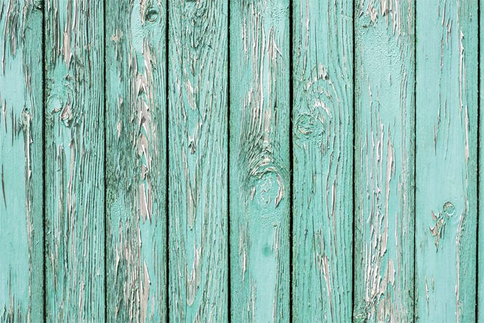 Old Wall From Turquoise Wooden Planks Texture