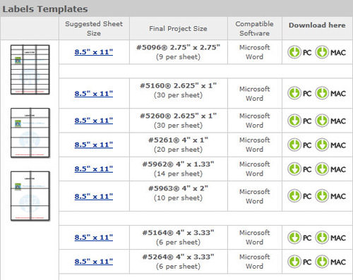 Useful microsoft word microsoft excel templates hongkiat labels pronofoot35fo Gallery