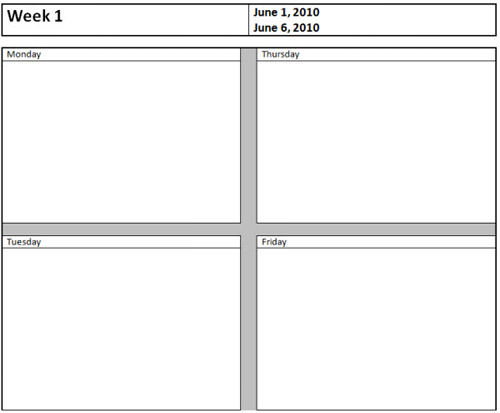 Weekly Report  Microsoft Word Template Report