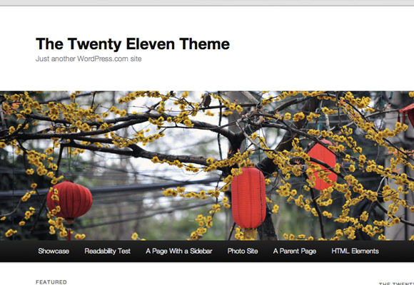Newest demo 2011 twenty eleven theme