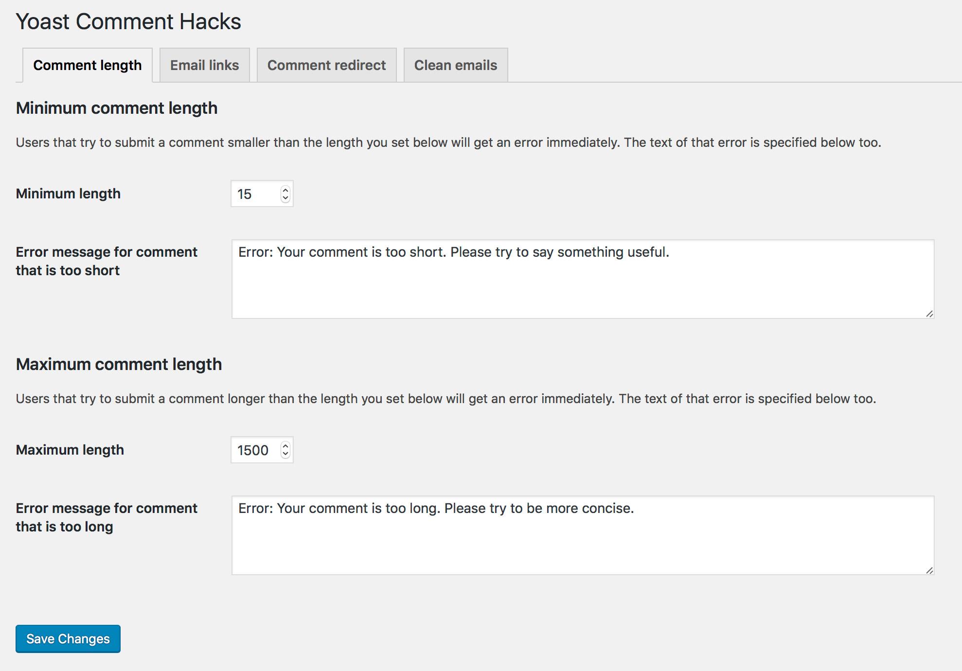Yoast Comment Hacks