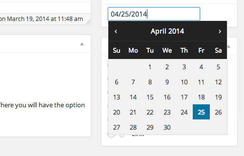 dateipcker for wordpress