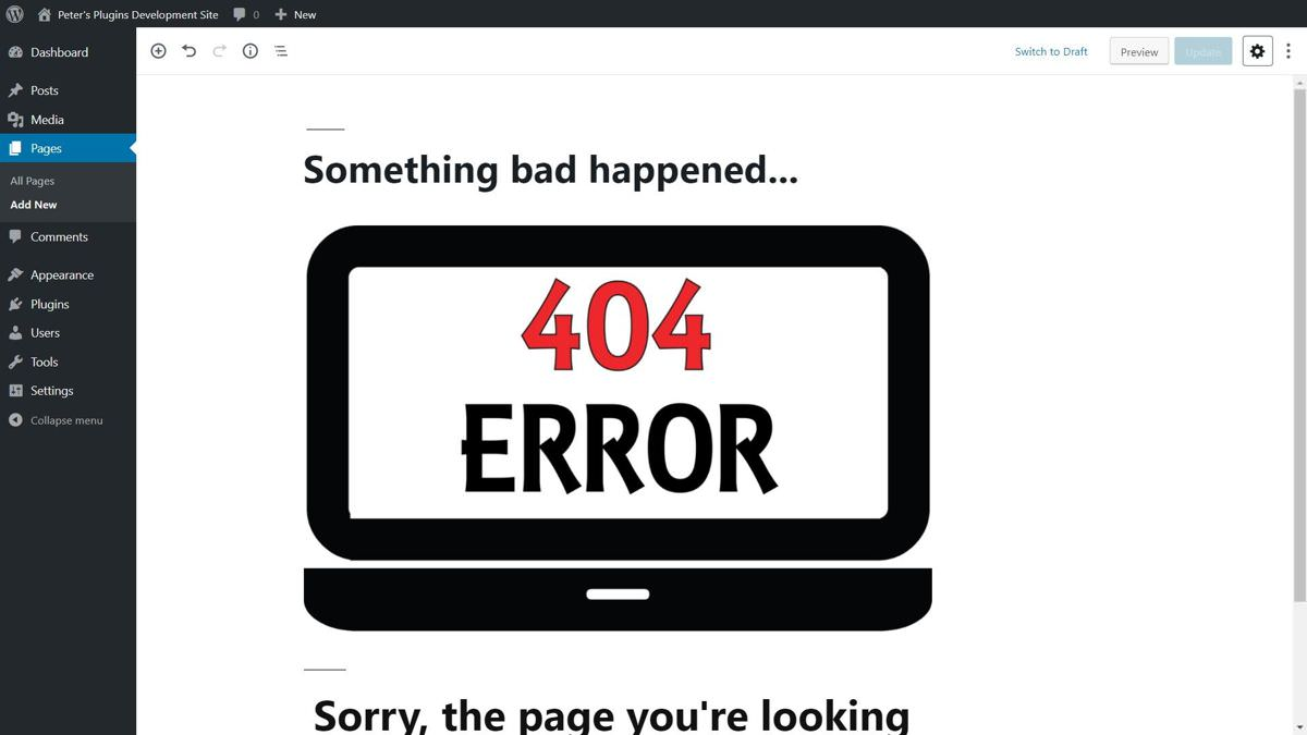404page aide à créer des pages d'erreur