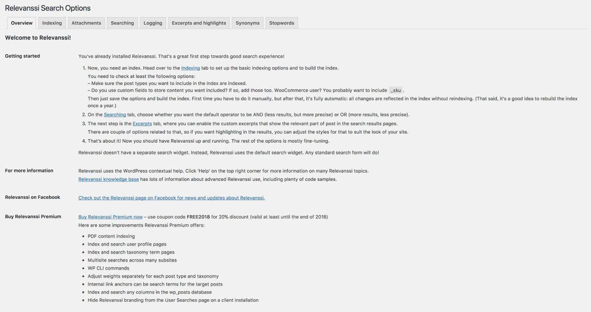 Relevanssi remplace la recherche standard de WordPress