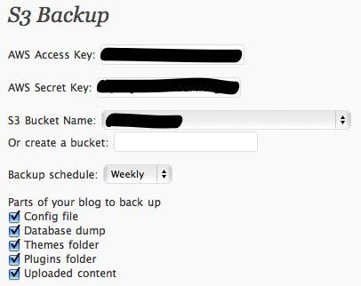 WP S3 Backup