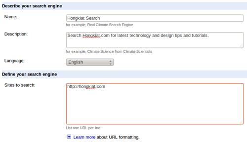 Set Up Google Custom Search