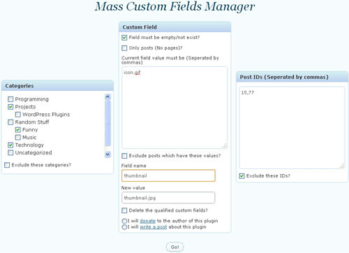 custom field manager
