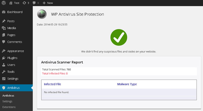 antivirus site protection