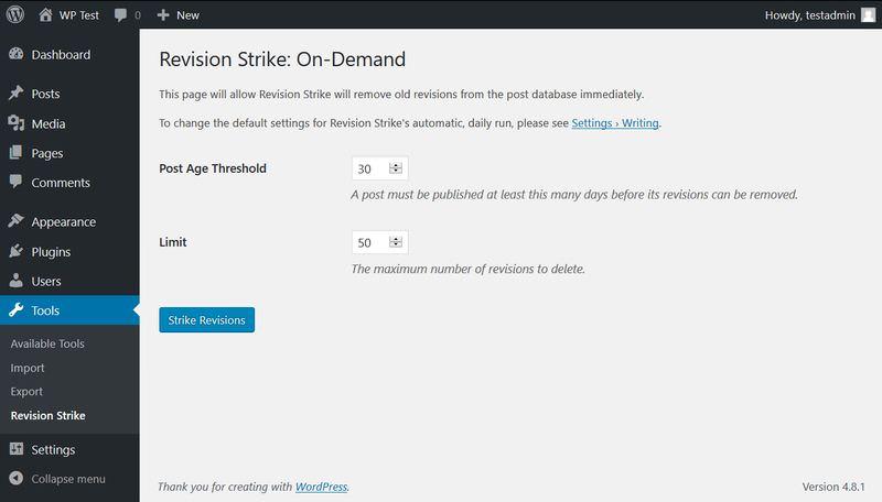 Revision Strike plugin