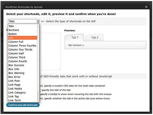 WordPress Shortcodes Plugin